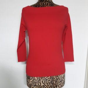 H&M Wide Neck Red Sweater Ladies Medium